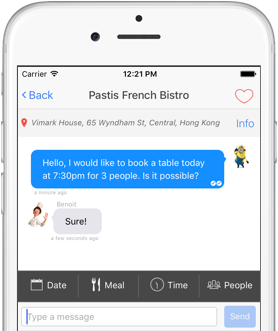 BistroChat chat feature